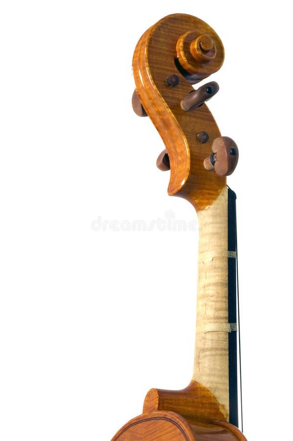Détail de défilement de violon photographie stock libre de droits