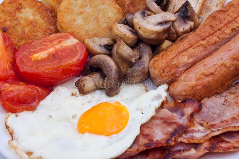 Détail de déjeuner anglais photographie stock