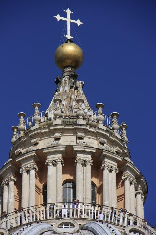 Détail de dôme de la basilique de Peter de saint, Ville du Vatican, photos libres de droits