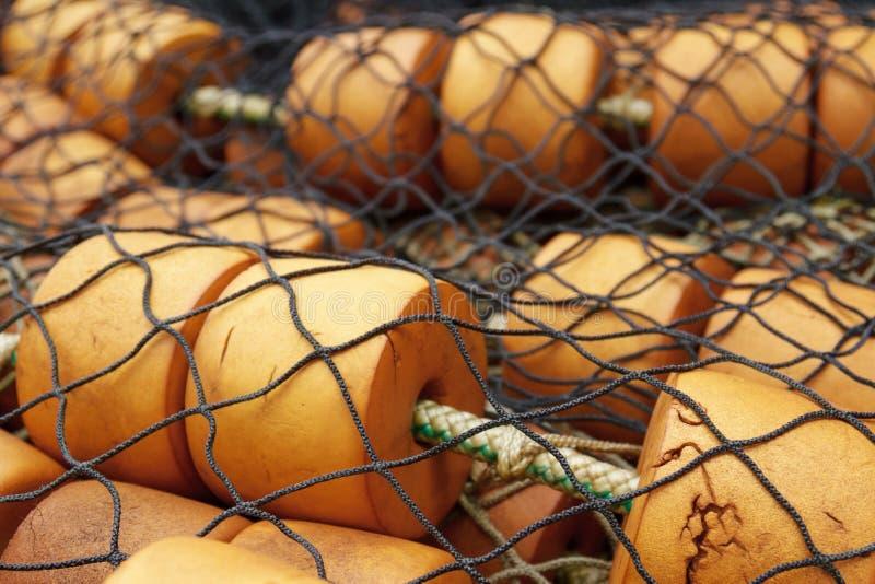 Détail de filet de pêche au point glacial Alaska Etats-Unis de détroit photographie stock