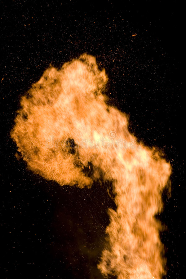 Détail de flamme photographie stock libre de droits