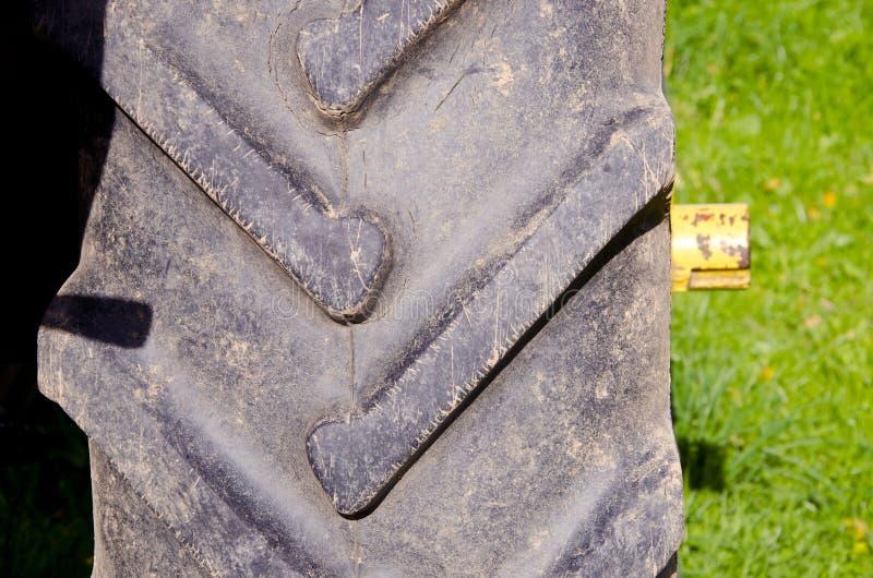 Détail de fond de plan rapproché de protecteur de pneu d'entraîneur image libre de droits