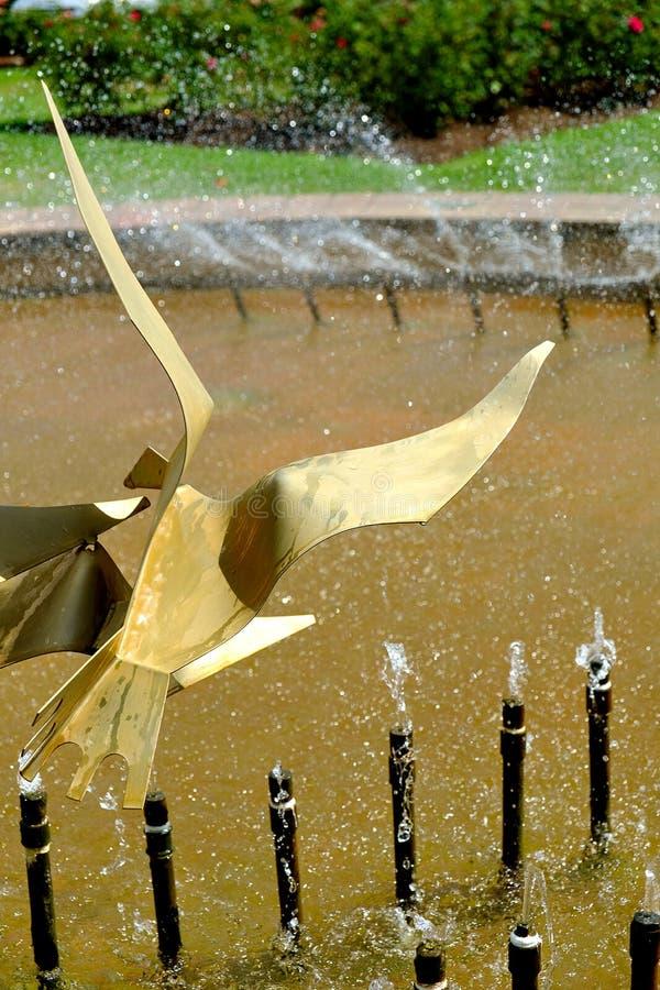 Détail de fontaine chez Te Awamutu Rose Gardens, Te Awamutu, Nouvelle-Zélande, NZ, NZL photographie stock libre de droits