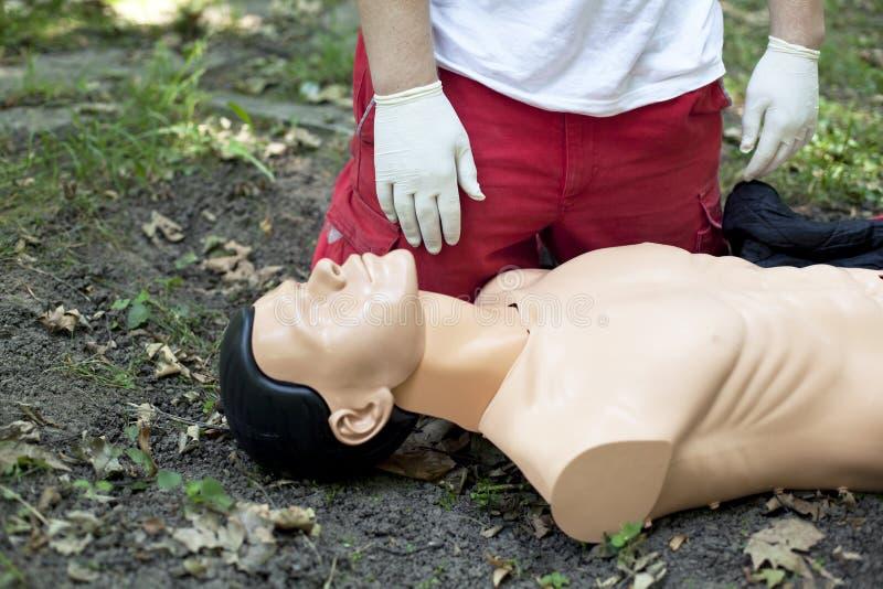 Détail de formation de premiers secours images libres de droits