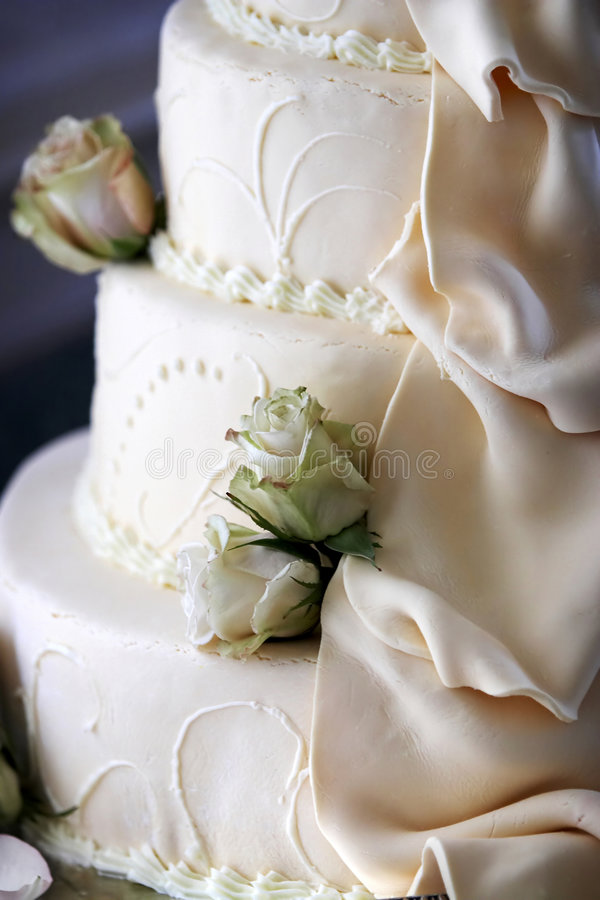 Détail de gâteau de mariage image stock