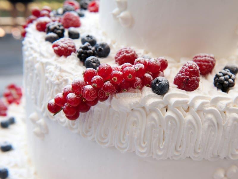 Détail de gâteau de mariage photos stock
