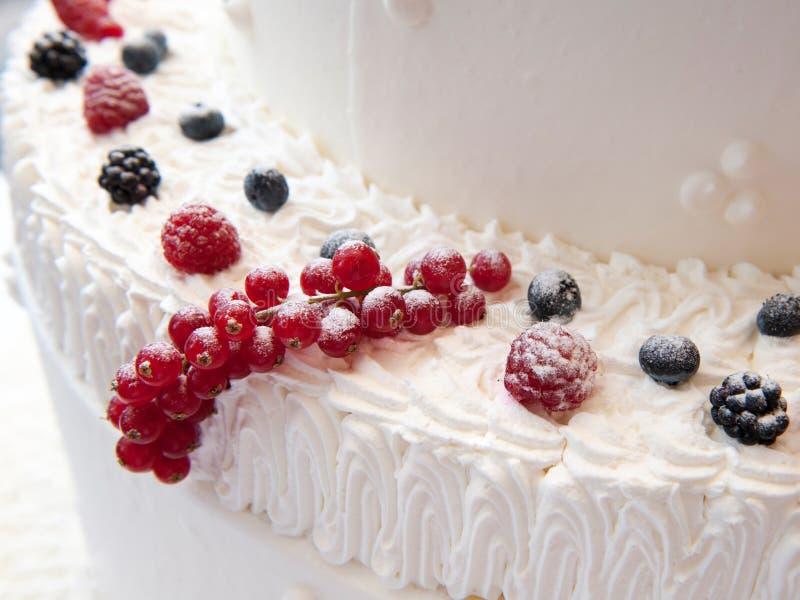 Détail de gâteau de mariage images stock