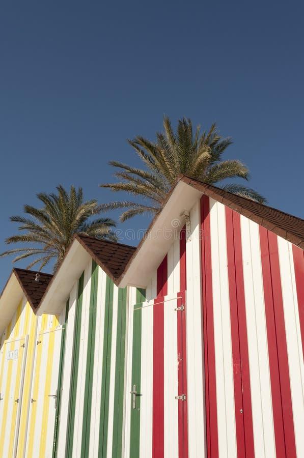 Détail de huttes de plage images libres de droits