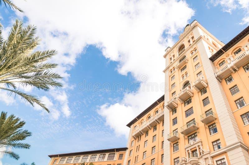 Détail de l'hôtel de renommée mondiale de Biltmore à Miami image libre de droits