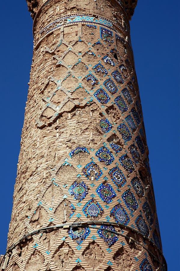 Détail de l'un des minarets de Musalla à Herat, Afghanistan image libre de droits