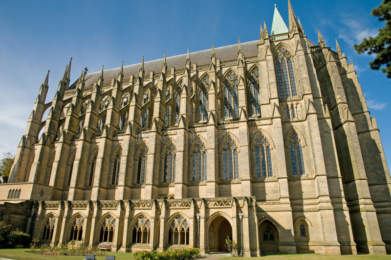 Détail de la construction gothique photos stock