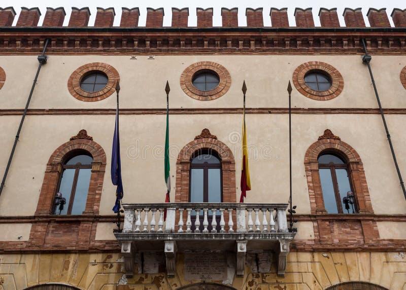 Détail de la façade d'un palais médiéval photo stock