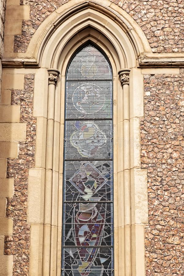 Détail de la façade de la cathédrale de Southwark à Londres photos stock