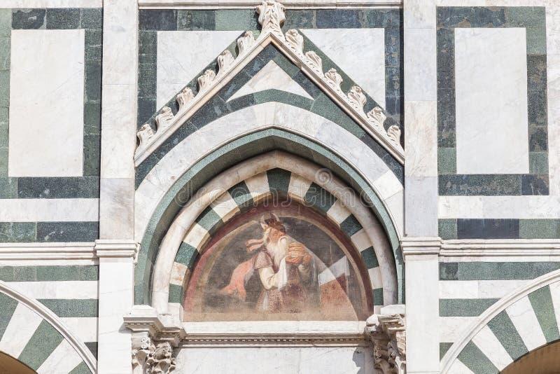 Détail de la façade de Santa Maria Novella à Florence photo stock