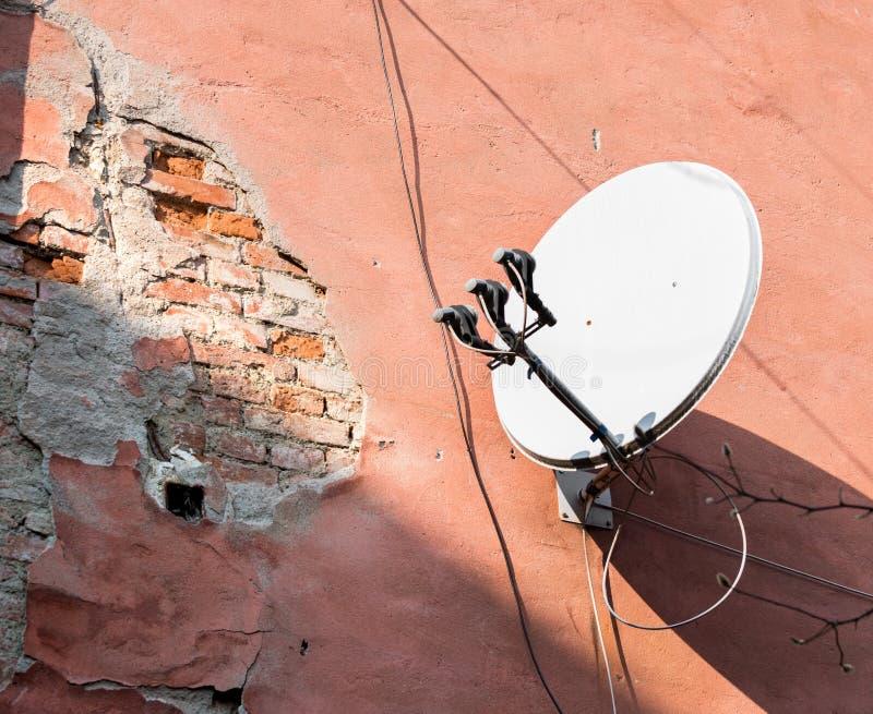 Détail de la façade ruinée images libres de droits