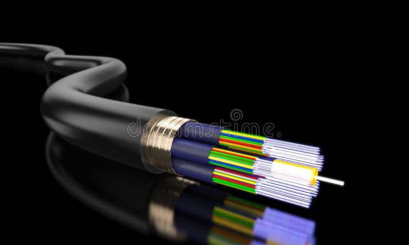 Détail de la fibre optique illustration de vecteur