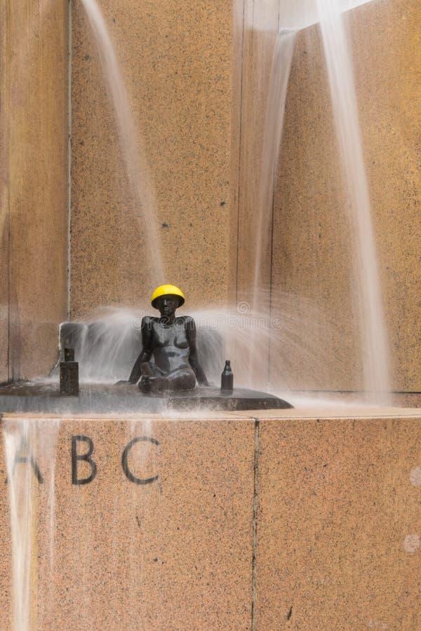 Détail de la fontaine du monde par Joachim Schmettaus image stock