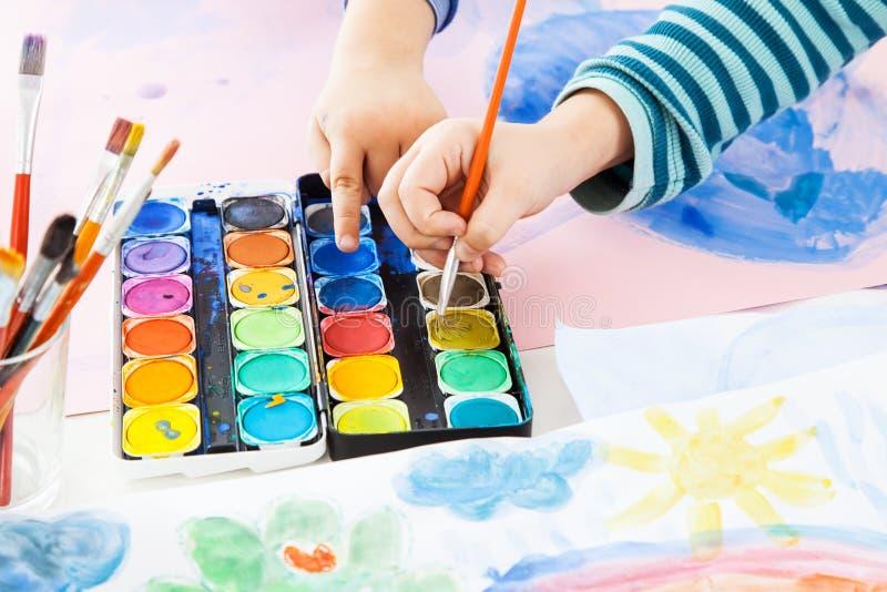 Détail de la peinture de main image libre de droits