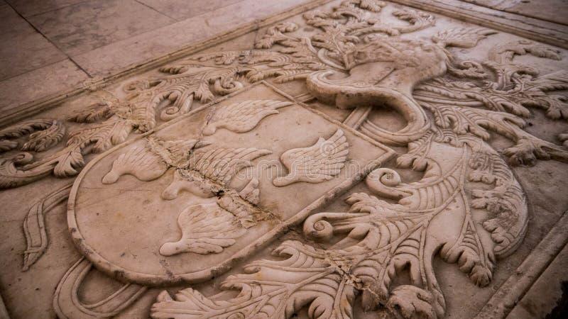 Détail de la tombe de la famille d'Abreu image libre de droits