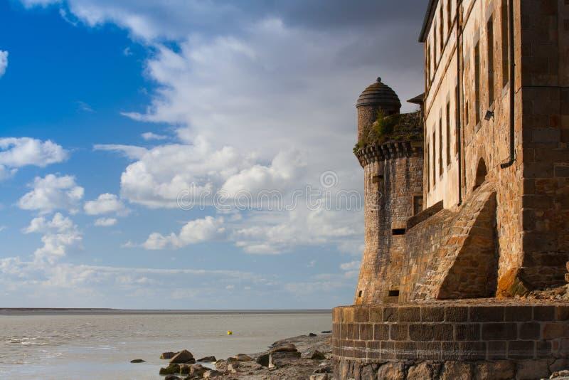 Détail de le historique célèbre Mont Saint-Michel Normandy, France photos stock