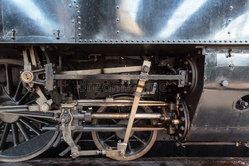 Détail de locomotive à vapeur photos stock