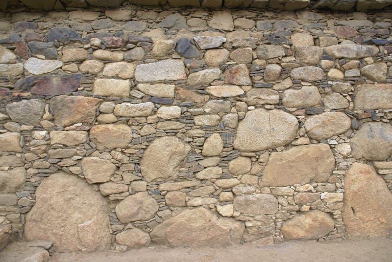 Détail de maçonnerie rugueuse d'Inca photo stock