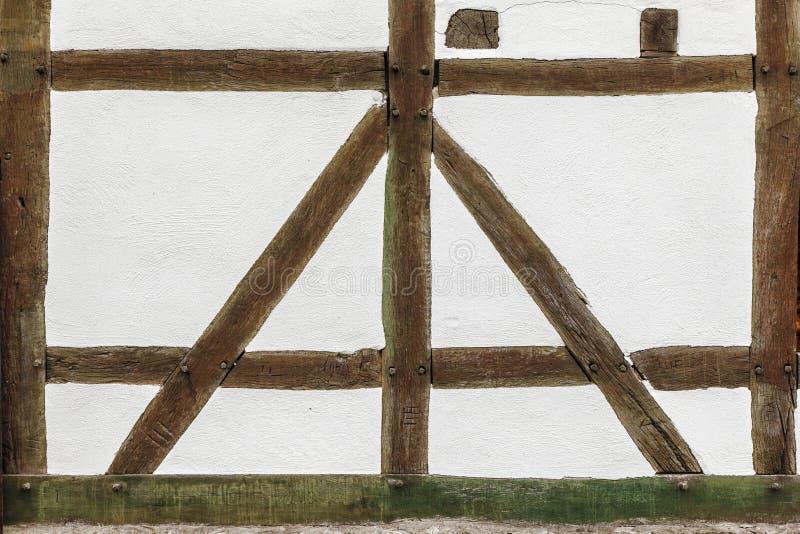 Détail de maison de cadre historique photos stock