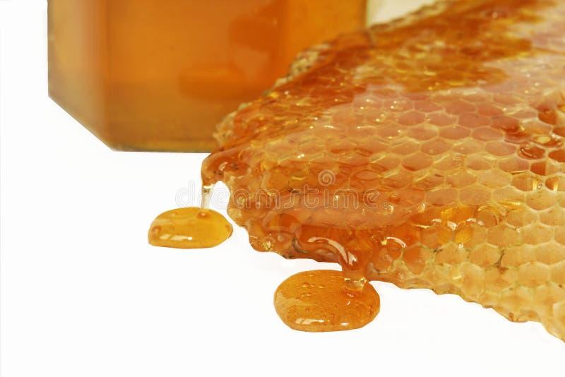 Détail de miel d'abeille photographie stock