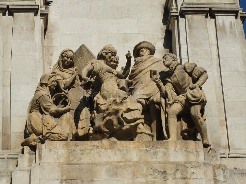 Détail de monument de Cervantes photo libre de droits