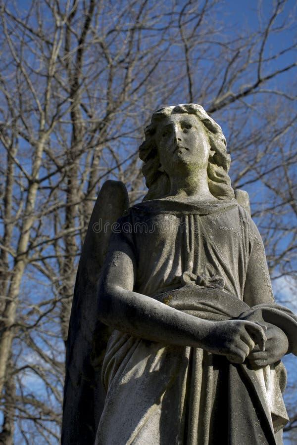 Détail de monument d'ange dans le cimetière de la Virginie Occidentale photo libre de droits