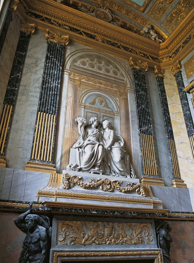 Détail de mur au palais de Versailles image stock