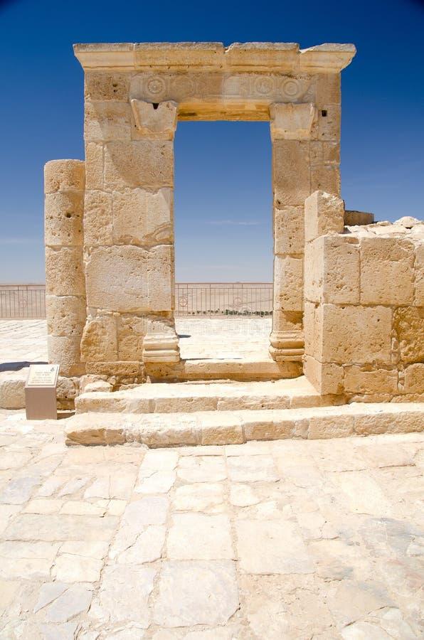 Détail de mur au site Avdat de l'UNESCO images libres de droits