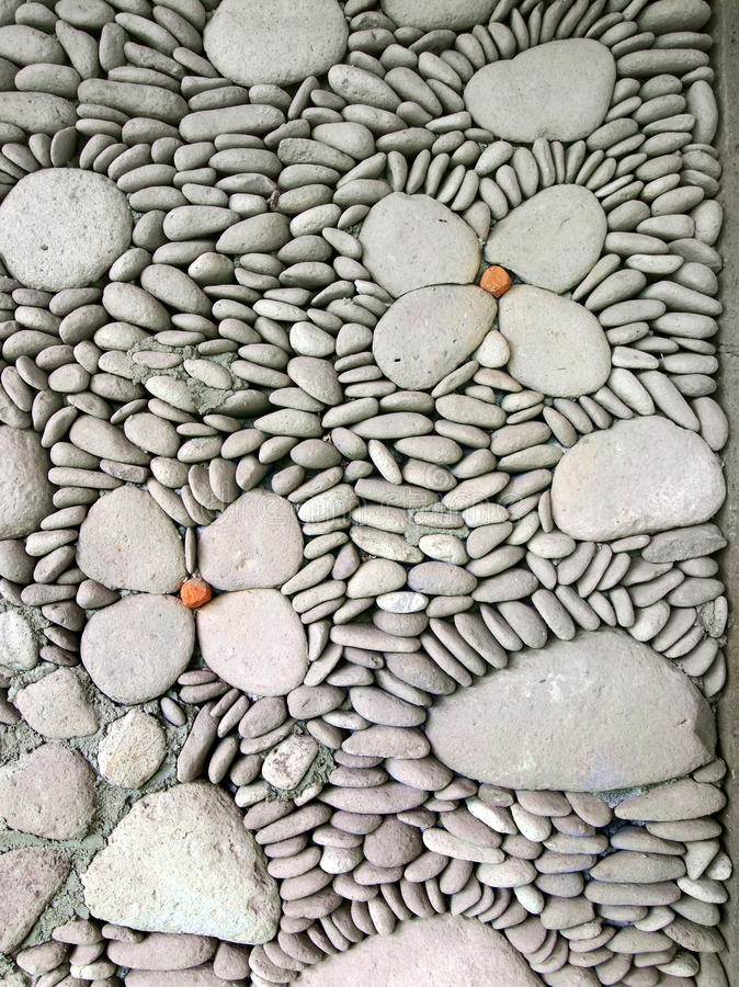 Détail de mur de caillou, Bali image libre de droits