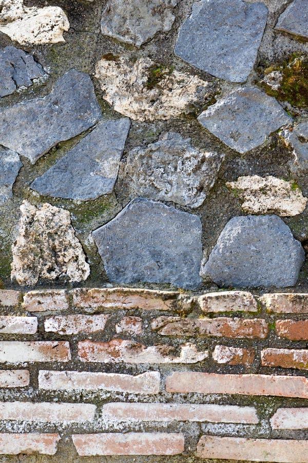 Détail de mur de Pompeii image libre de droits