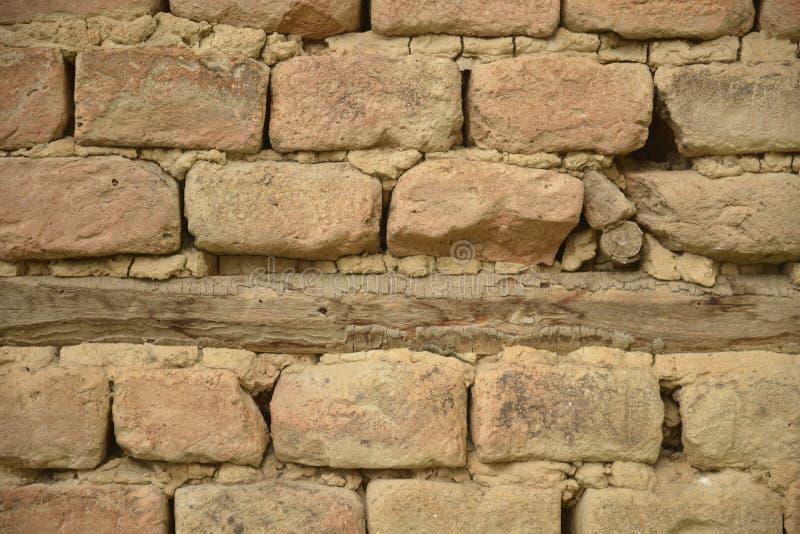 Détail de mur handcrafted d'adobe image stock