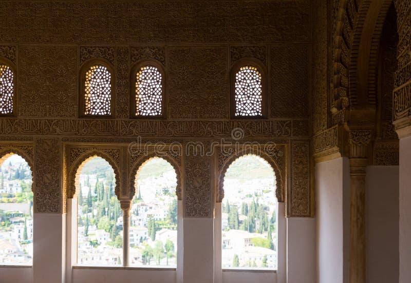 Détail de palais de Nasrid, Alhambra grenade photographie stock