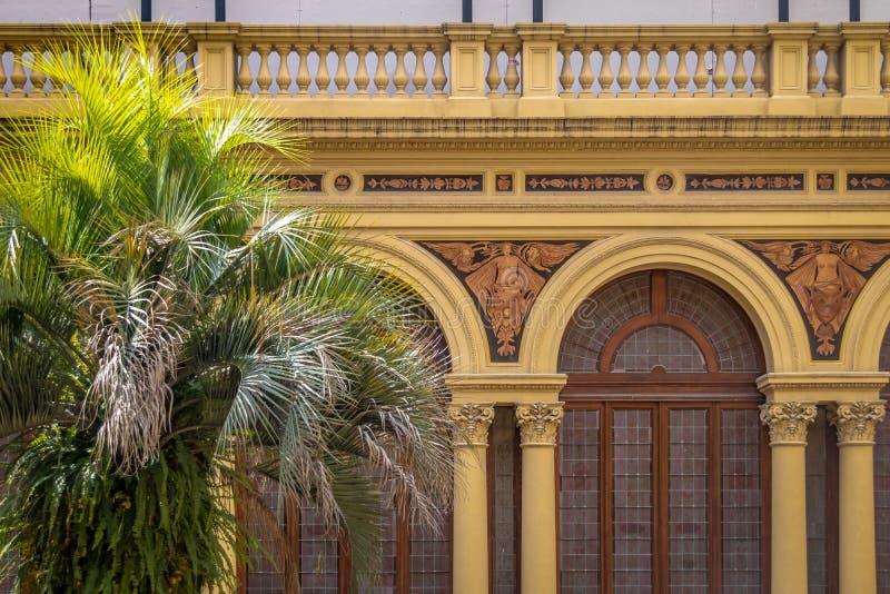 Détail de palmier Patio Patio de las Palmeras au palais présidentiel de Rosada de maison - Buenos Aires, Argentine photos stock