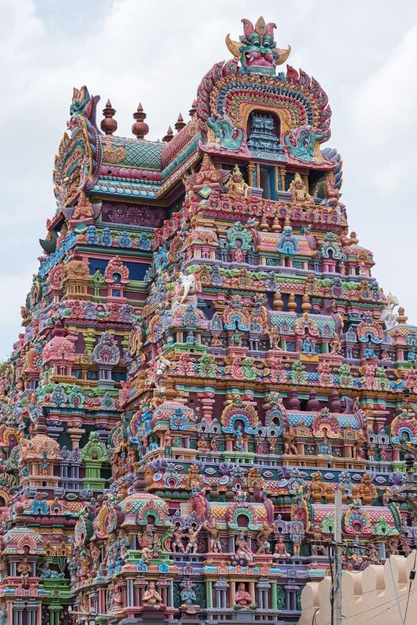 Détail de passage de temple chez Trichy dans Tamil Nadu photo libre de droits