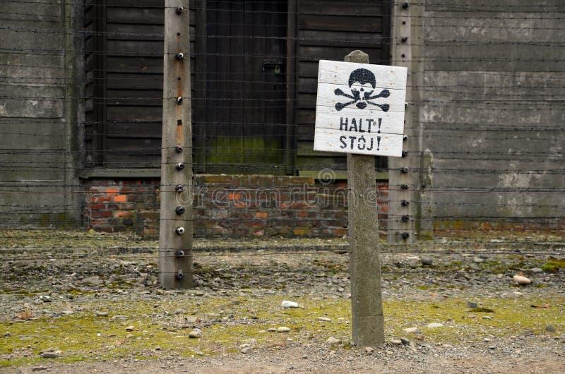Détail de photo dans le camp de concentration nazi en Pologne images stock