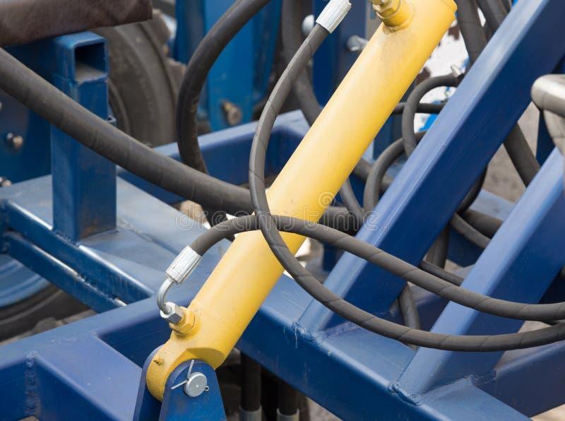 Détail de piston hydraulique photographie stock libre de droits