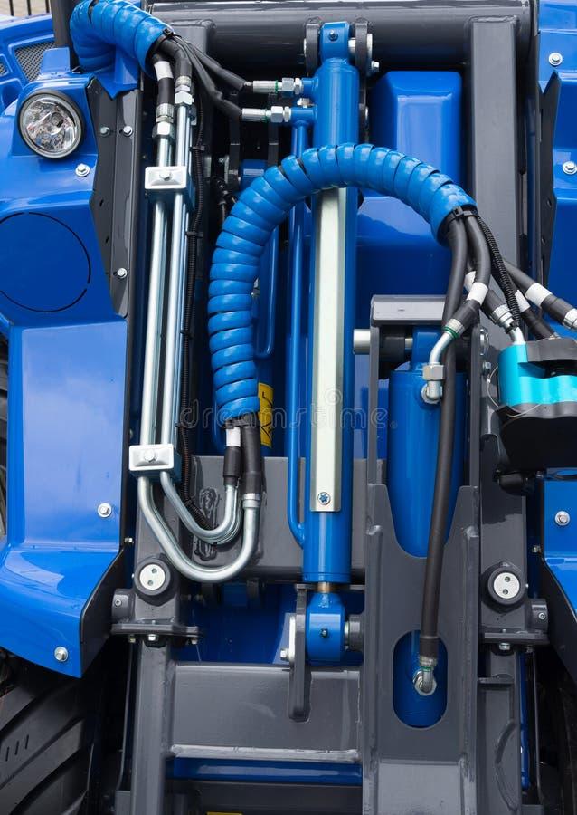 Détail de piston hydraulique de bouteur photographie stock libre de droits