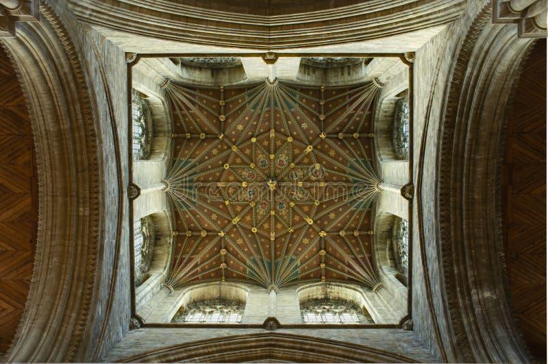 Détail de plafond de cathédrale de Peterborough photos libres de droits