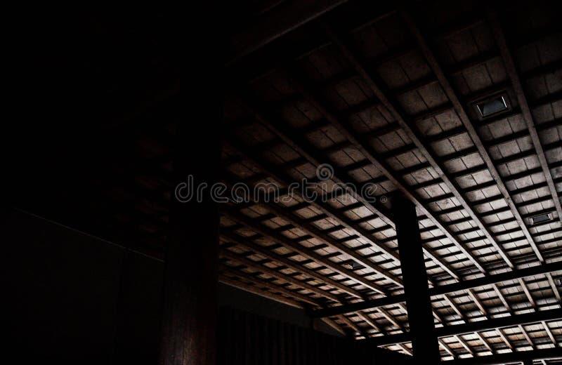 Détail de plafond de temple japonais image libre de droits