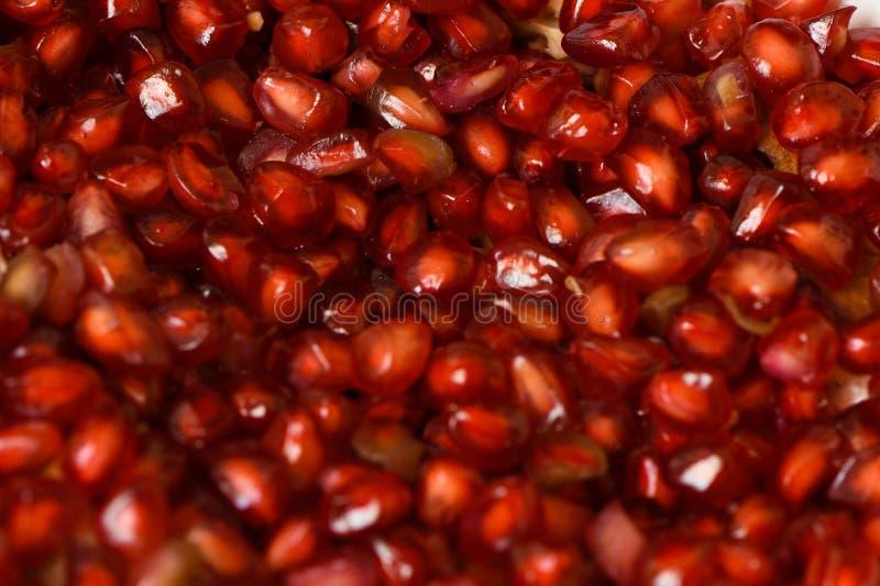 Détail de plan rapproché de graines de fruits de grenade image libre de droits