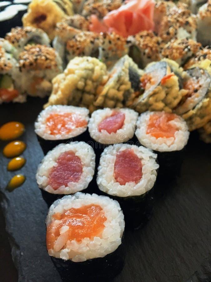 Détail de plat de sushi photos libres de droits