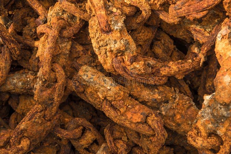 Détail de port massif de Rusty Chain In A image libre de droits