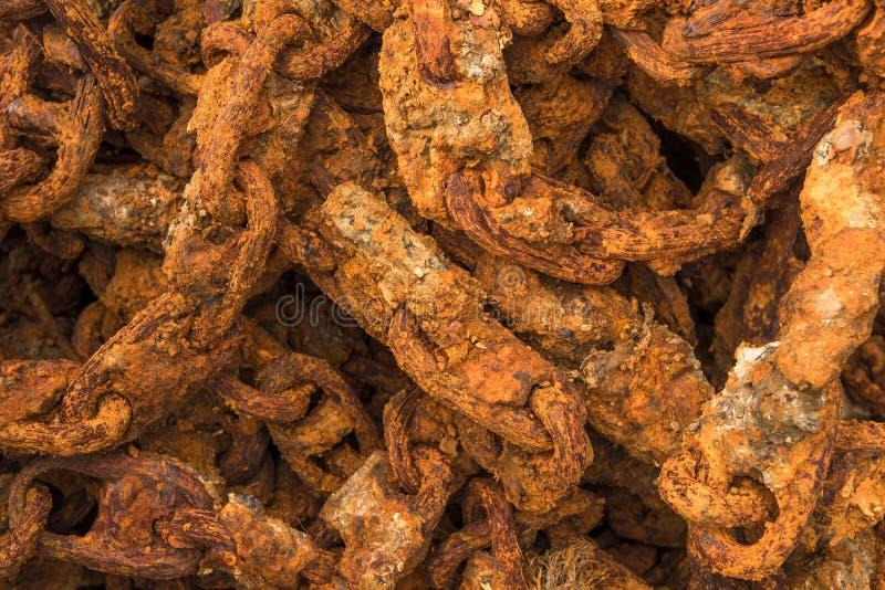 Détail de port massif de Rusty Chain In A photo stock