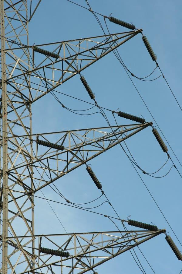 Détail de pylône de ligne électrique images stock