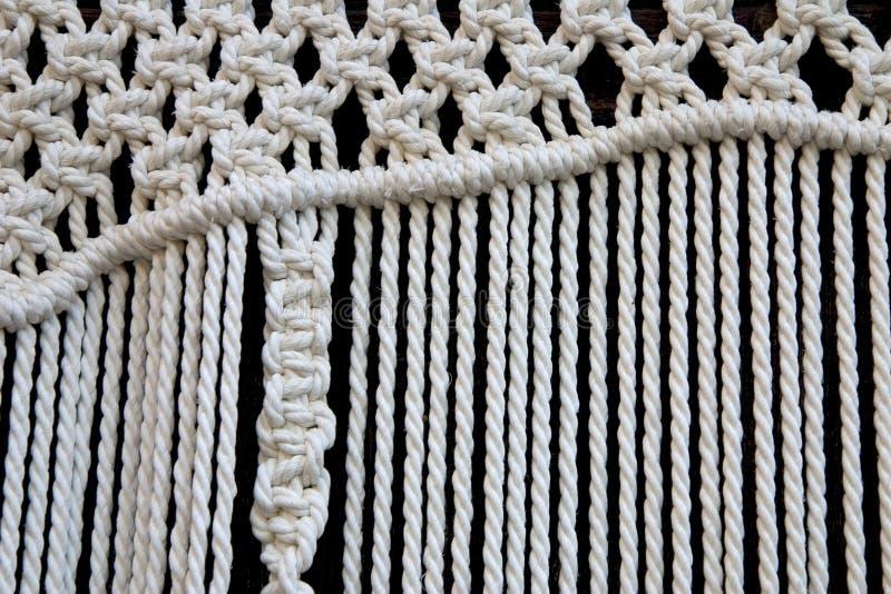 Détail de rideau en Macrame image libre de droits