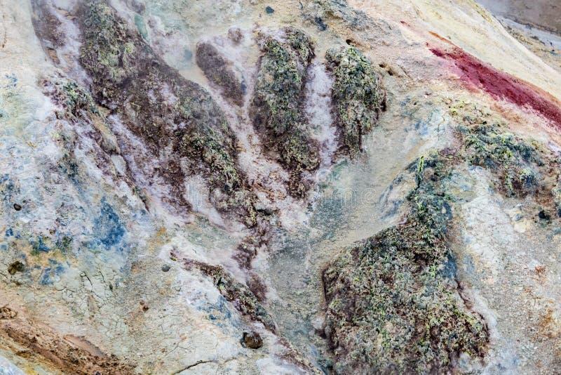 Détail de roche fraîche, chaude, volcanique et de sable photos libres de droits